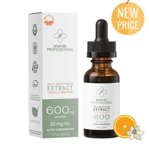 Ananda Professional 600mg Tincture (30ml) Vanilla Orange Flavor
