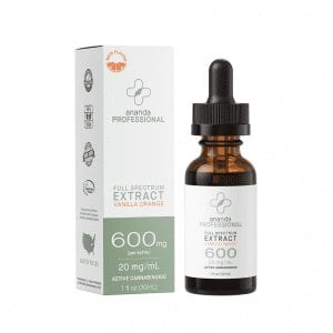 Ananda Professional 600mg Tincture (30ml) Vanilla Orange Flavor