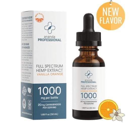 Ananda Professional 1000mg Tincture (50ml) Vanilla Orange Flavor